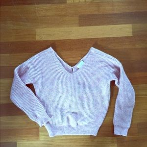 Anthropologie sweater w knot back lavender small